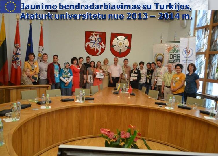 Jaunimo bendradarbiavimas su Turkijos Ataturk universitetu